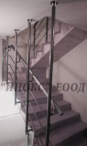алуминиев парапет с три струни с конзолно захващане за стъпала и таван