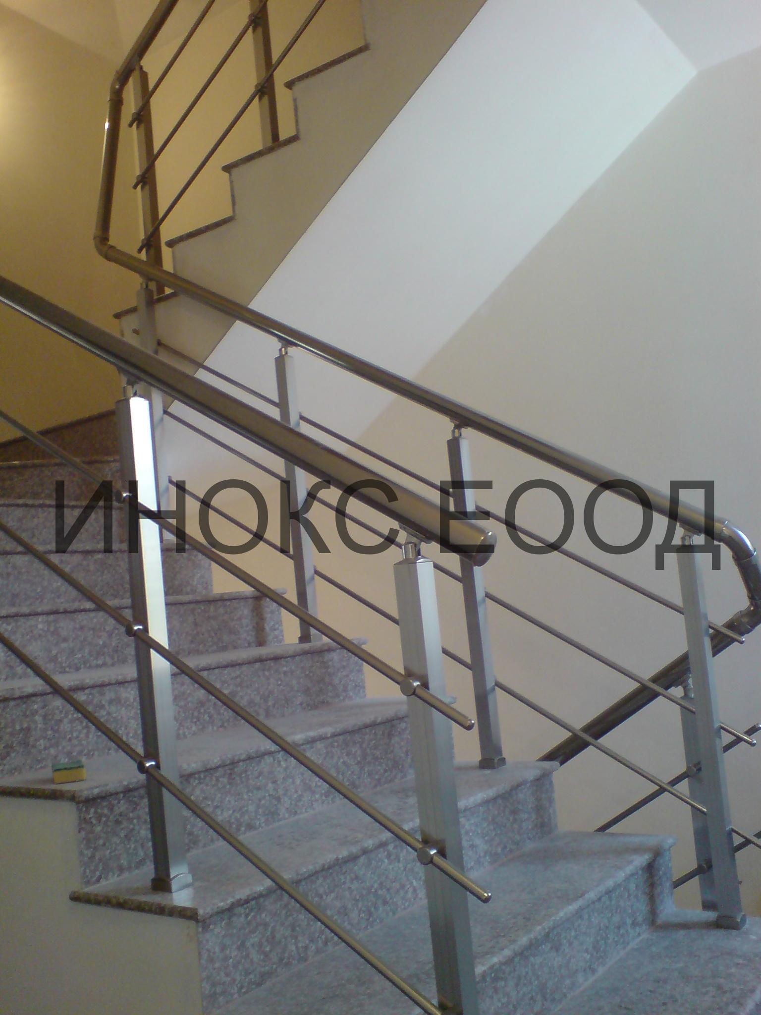 алуминиев парапет за вътрешна стълба image