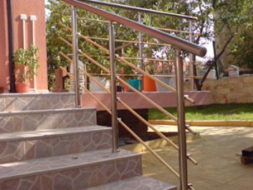 алуминиев парапет за тераса със струни, цвят бронзе image